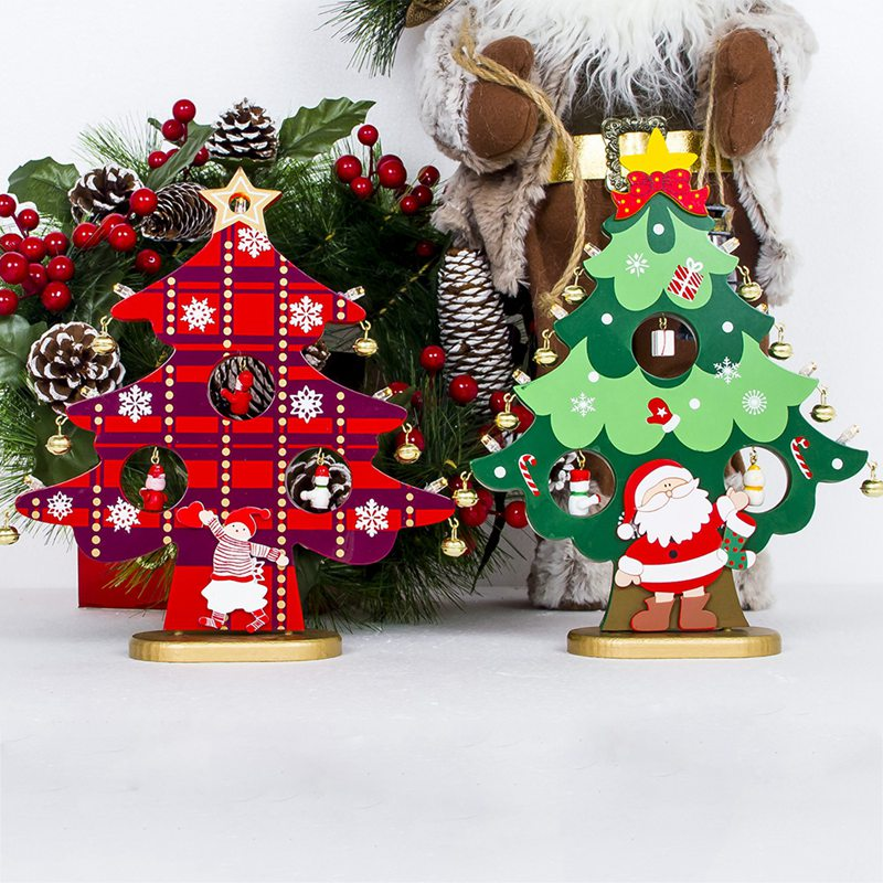 artificial christmas tree led lights holiday window decorations set kids girts