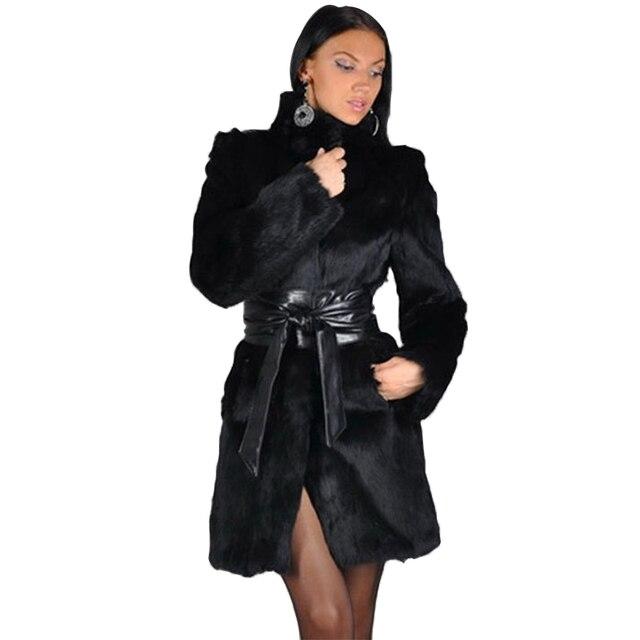 Aliexpress.com : Buy Faux Fur Coats Female 3XL Warm Full Pelt ...
