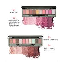купить!  Новая палитра теней для век Водонепроницаемые 10 цветов макияжа Палитра теней для век Долговечные  Лу