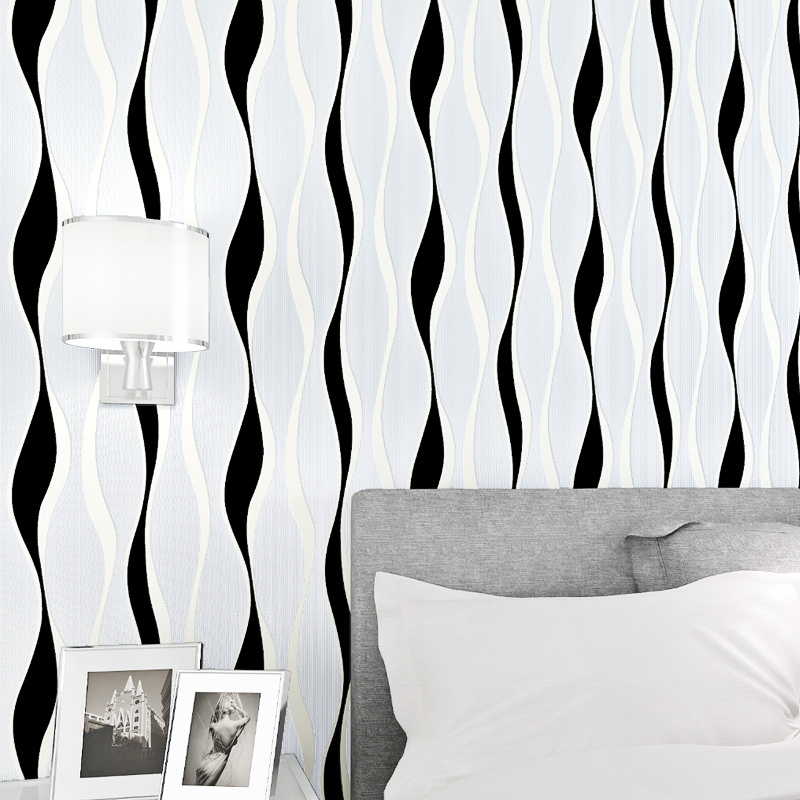 3d papel parede Vinyl Wave Stripe Wallpaper Rolls for Bedroom Background Living Room 3d Wall paper roll 3d Wallcoverings 3d papel de parede artificial bamboo wallpaper mural rolls for background 3d photo wall paper roll for living room cafe