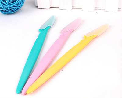 Image 2 - 3Pcs Women's Lip Stainless Steel Facial Hair Remover Razor Sharp Eyebrow Cutting Makeup Knife-in Hair Removal Cream from Beauty & Health