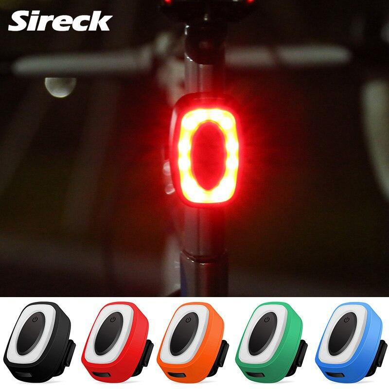 Sireck Bicicleta 7 Modos de Flash USB Luz de Carga Luz Da Cauda Da Bicicleta Ciclismo Segurança Aviso Lâmpada Luz Traseira Luz Bicicleta À Prova D' Água