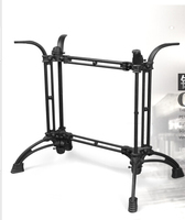 Cast iron, wrought iron table. Table legs. Long legs.