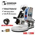 ZONESUN полуавтоматическая ленточная кодировочная машина типография Электрическая печатная машина для печати даты термопечатный принтер