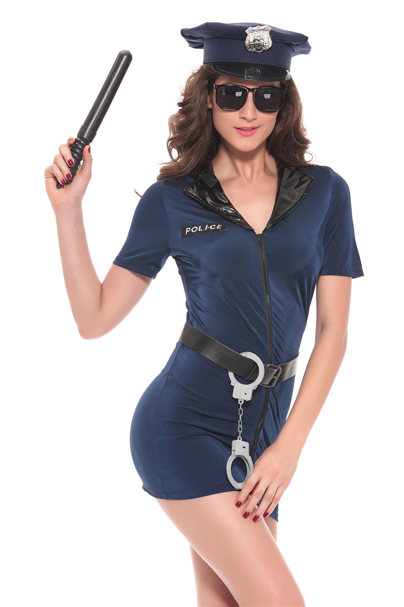 Coulhunt Women Police Costumes 2017 Sexy Sex Cop Cosplay -8661