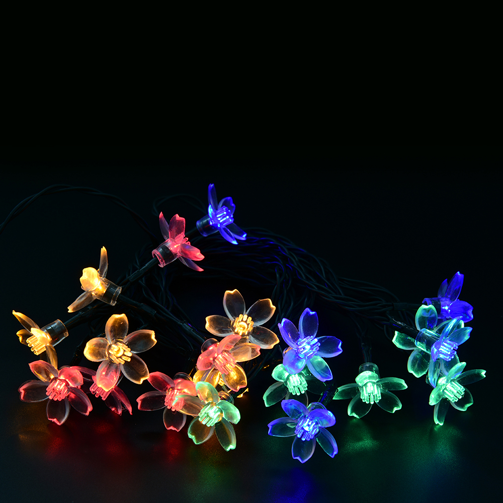 50 LEDs Flower Solar LED string lights Christmas Party Festival Decoration LED light,Garden light,string lamp