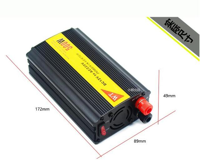 Melhor qualidade car/viechle poder 500 w 24 v a 220 v inversor, tomada de caminhão 220 v conversor fonte de alimentação USB 5 V 1A Livre grátis