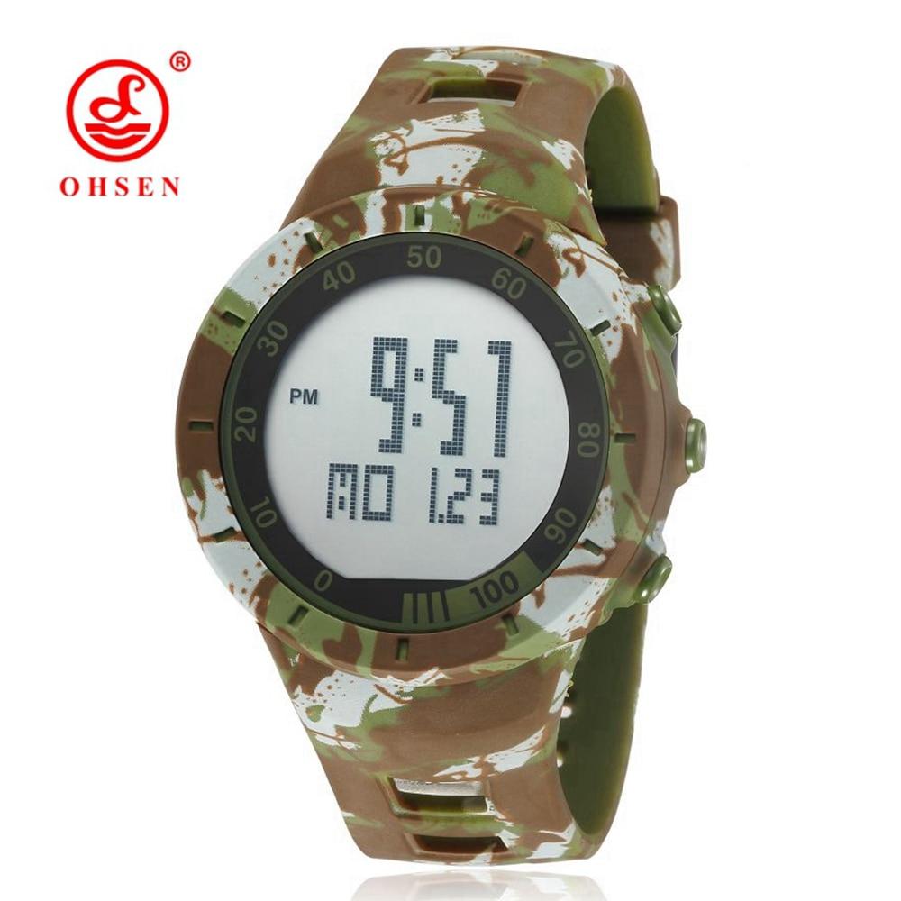 OHSEN Shock Vattenbeständig Gummi Camouflage Watch LED Sport - Herrklockor - Foto 2