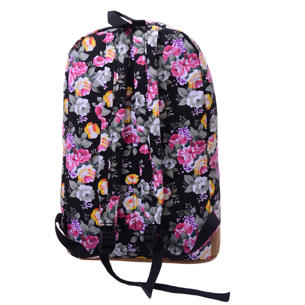 Chinese Style Flower Printed Backpack Women Canvas Large Capacity ... 734b425ae04bf