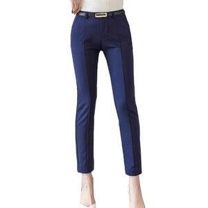 Image 2 - กางเกงผู้หญิง 2019 ใหม่ข้อเท้า ความยาวCapris LeggingsหญิงPantalon Femme Workwear Slim Highเอวลำลองผู้หญิงกางเกง
