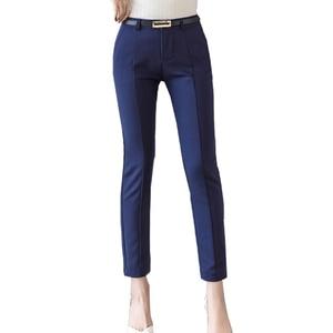 Image 2 - Trousers Women 2019 New  Ankle length Capris Female Leggings Pantalon Femme Workwear Slim High Waist Elastic Casual Woman Pants
