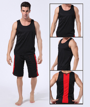 New WJ mens tank top Sports polyester sold speed dry vest 5 colors size S/M/L