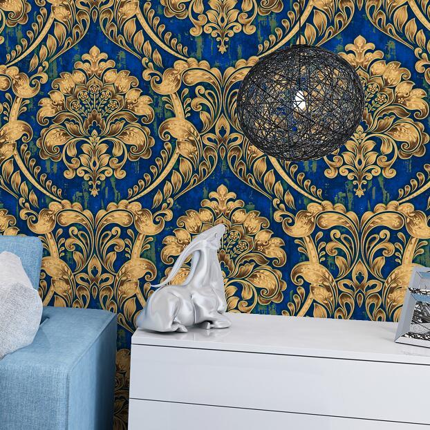 Classic European Damask Wallpaper For Home Decor