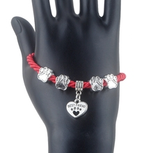 Fashionable and Trendy Hand-Woven Rope Chain Dog Paw Bracelet