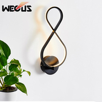 New individual word 8 LED wall lamp creative Nordic concise wall light bedside restaurant livingroom background wall lamp