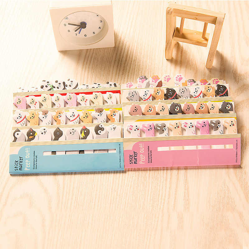 1PC MINI สติกเกอร์ Planner Kawaii Sticky Notes เครื่องเขียนสติกเกอร์วางแผน MeMO Pad น่ารัก papeleria Notepad Sticky 02081