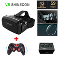 "Original google 3d VR Shinecon1 Cardboard Virtual Reality vr box2.0 3D vr Glasses for 4""-6"" Smartphone + Bluetooth Game Gamepad"