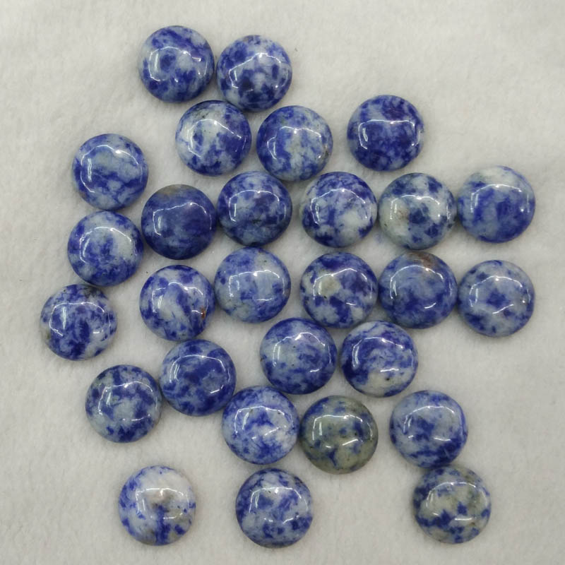2016 fashion natural sodalite stone round CAB CABOCHON 14mm charms beads for jewelry making wholesale 50pcs/lot free shipping