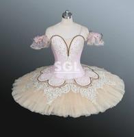 Классическая Балетные костюмы пачка Для женщин/Обувь для девочек Профессиональный пачки взрослых Производительность Одежда для танцев ро