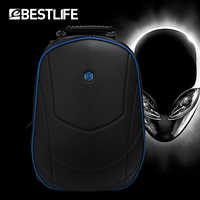 Mochila 3D de lujo BESTLIFE para hombre, bolsa portátil para ordenador portátil de oficina de 17,3 pulgadas, mochila para hombre, mochila de viaje, mochila para niños