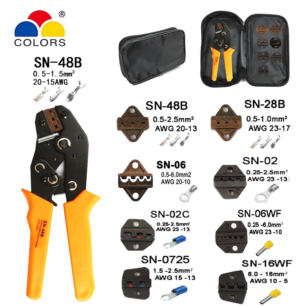 Handwerkzeuge Crimpen Zangen Sn-48b 7 Backe Für 2,8 4,8 C3 Xh2.54 3,96 2510 Pulg/rohr/insuated Terminals Kit Tasche Elektrische Klemme Marke Werkzeuge Modernes Design