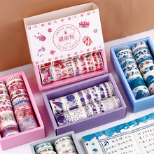 24 pcs/set Ocean whale Decorative Washi Tape Set Japanese Paper Stickers Scrapbooking flower Adhesive Washitape Stationary