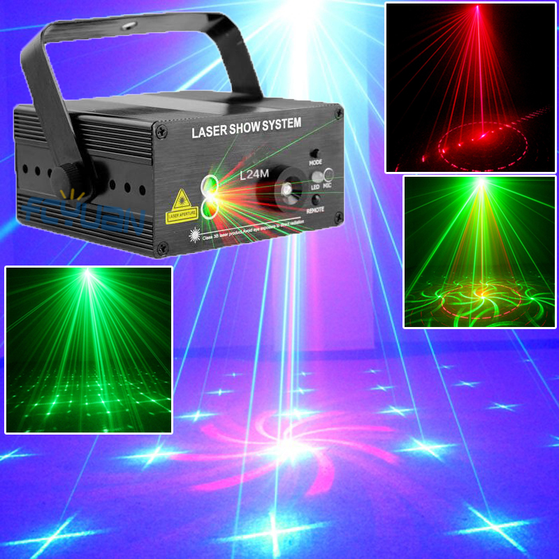 18 Patterns Blue LED Laser Light And Music Lumiere Red Green Mini Laser Projector Stage Disco Lighting Music Equipment transctego laser disco light stage led lumiere 48 in 1 rgb projector dj party sound lights mini laser lamp strobe bar lamps