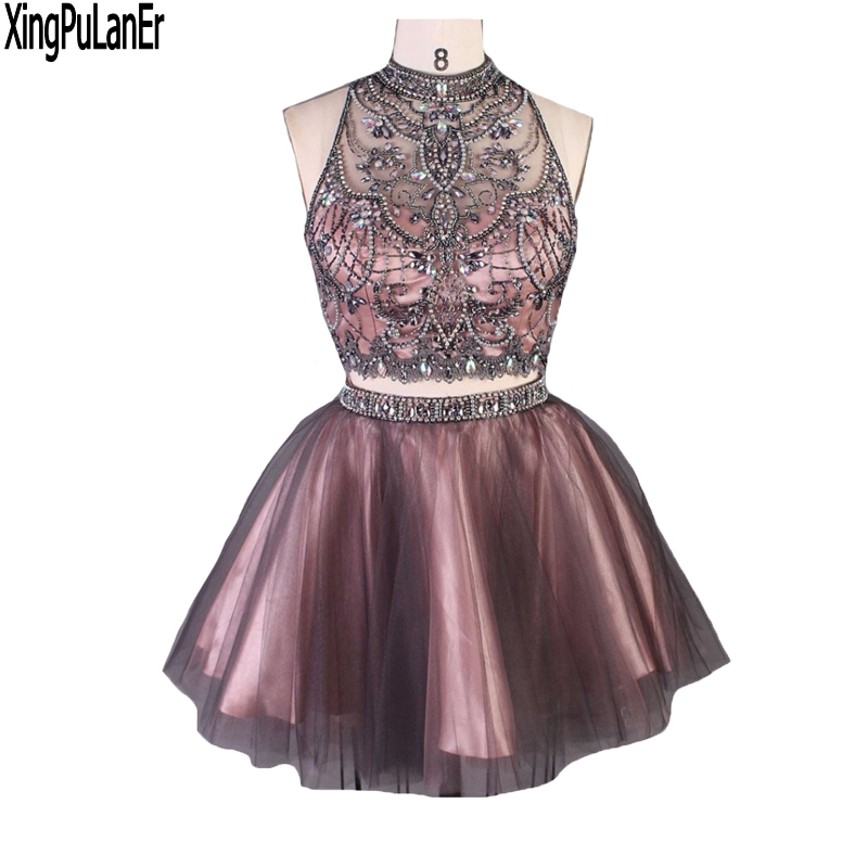 A Line Silver Beaded Crystals Keyhole Back Two Piece Real Sample ...