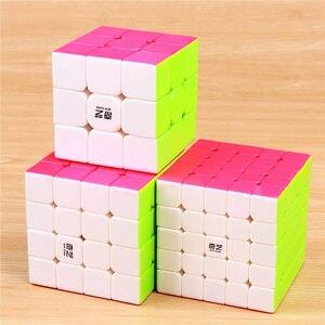 Image 2 - QIYI cube magique warrior 3x3x3 vitesses, cube puzzle professionnel sans autocollants, jouets éducatifs lisses, 4x4x4x5x5