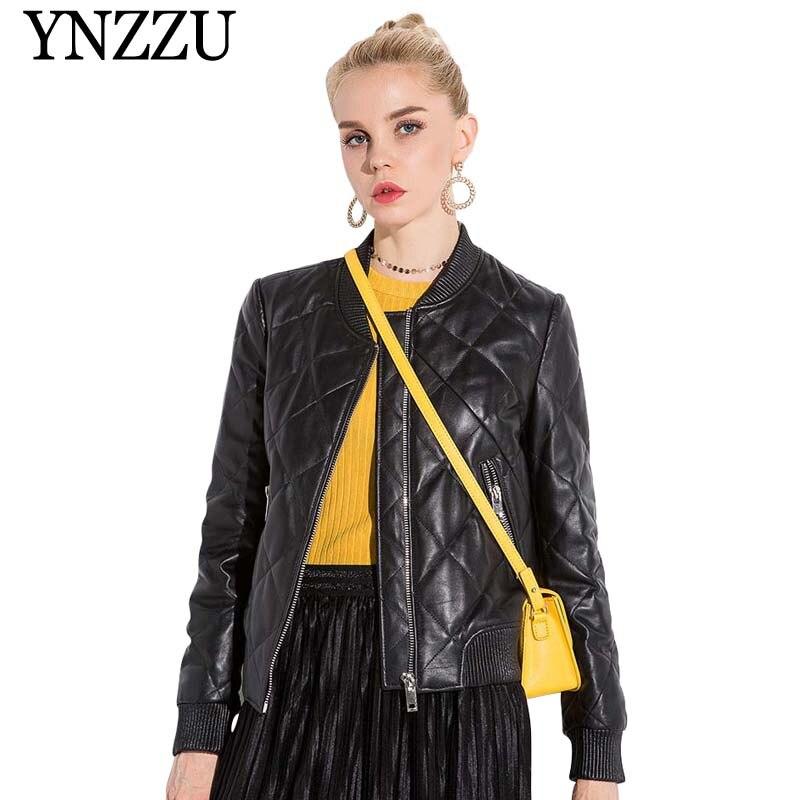 c217c9c681fc 2019 новая весенняя женская кожаная куртка черная ...
