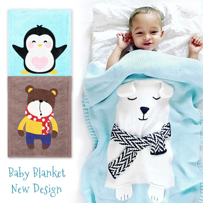 New AnimalBaby Blankets Newborn Swaddle Wraps Bath Towel Baby Soft Warm Wool Sleeping Blanket Swaddling Bedding Beach Towels IN