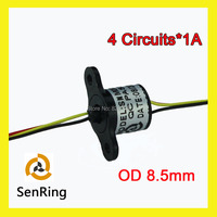 Mini Rotary Joint Capsule Slip Ring With OD 8 5mm 4 Wires 1A
