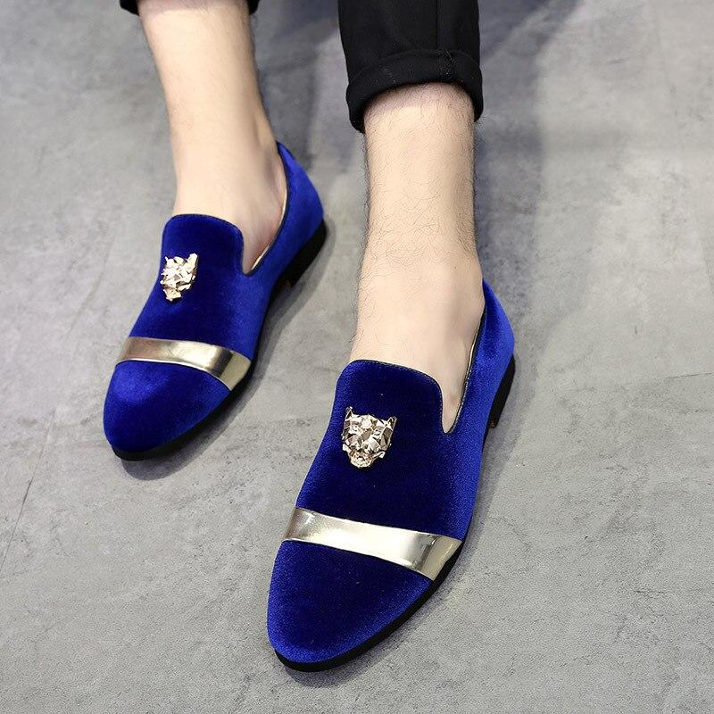 Homens Dos Elegante Mocassins Vestem Moda Populares Da Chaussure Mocassin Sapatos Os Loafers Preto Se Partido azul Homme Heinrich vermelho 2018 xwqS0FI