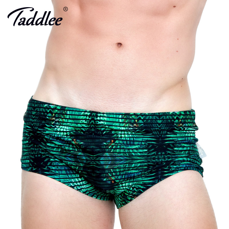 Taddlee Brand Men Swimwear Sexy Swim Bikini Brief Shorts 3D Printed Swimming Boxers Beach Board Surfing Shorts Gay Low Waist New