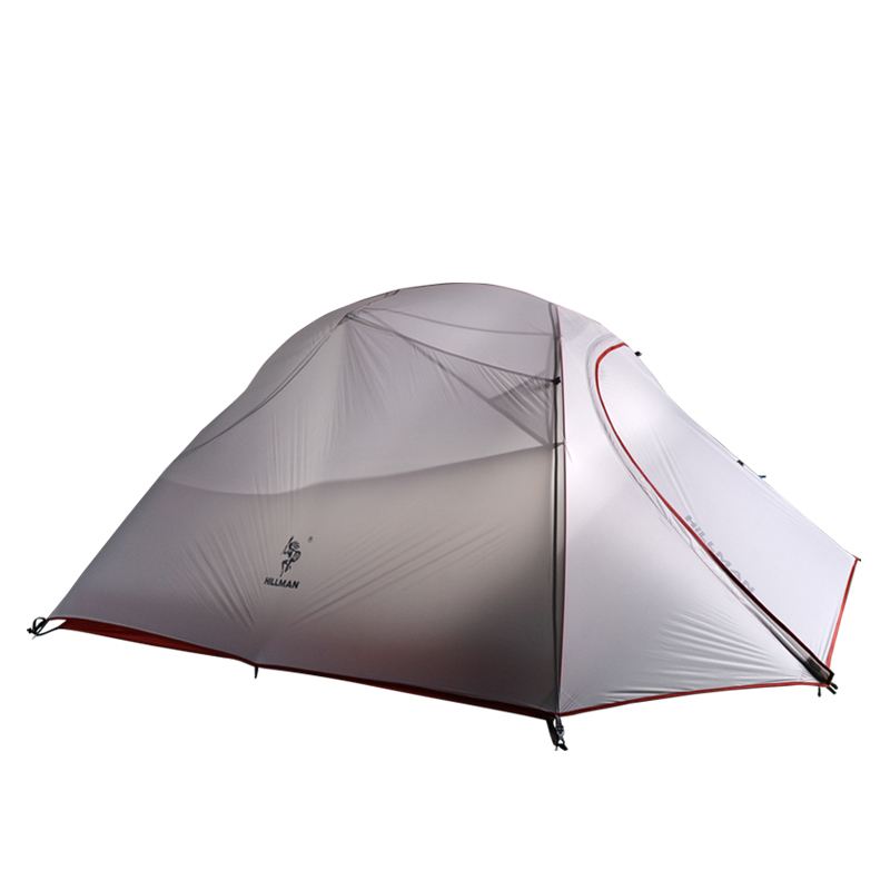 Waterproof Double Layer Ultralight Silicone Tent 3 Person 2D Silicone Coated Nylon Tents 4 Season Aluminum Rod Camping Tent hillman 3 4 person double layer ultralight silicon tent 2d silicone coated nylon waterproof aluminum rod outdoor camping tent