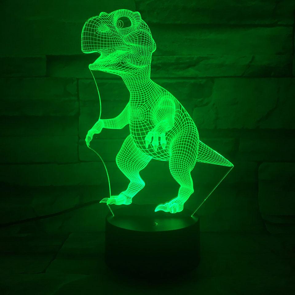 3D Illusion Dinosaur Led Lamp