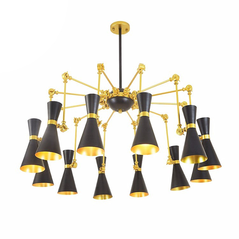 Modern minimalist iron creative adjustable chandeliers corridors porch lamps balcony lighting hall entrance lights (9)