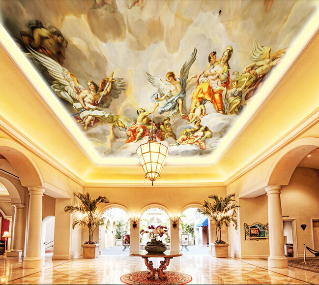 Angel ceiling murals bing images for Ceiling wallpaper
