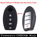Original Size Silicone 4 Button Car Key Cover Case For Nissan Teana X-Trail Qashqai Livina Sylphy Tiida Sunny Murano Juke Almera