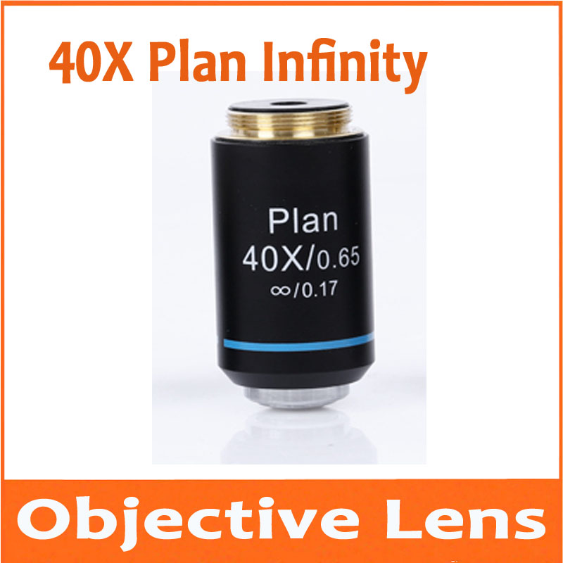 40X Infinity Plan Achromatic Objective Lens for Educational Lab School Olympus Biomicroscope Biological Microscope 20.2mm electronic microscope biological microscope 40x 640x student educational lab use monocular microscope three objective lens