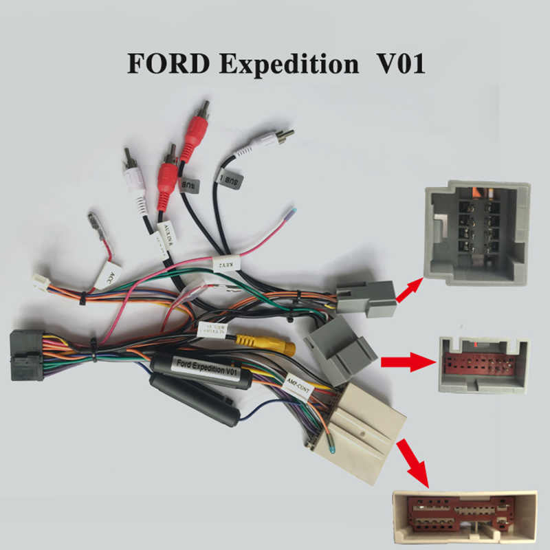 ARKRIGHT Wiring Harness Cable For Ford Expedition Radio Head Unit Adaptor Android Device