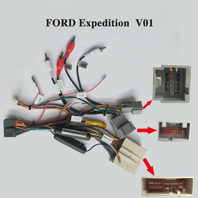 New Hot Special ARKRIGHT Wiring Harness Cable For Ford Expedition Radio Head Unit Adaptor