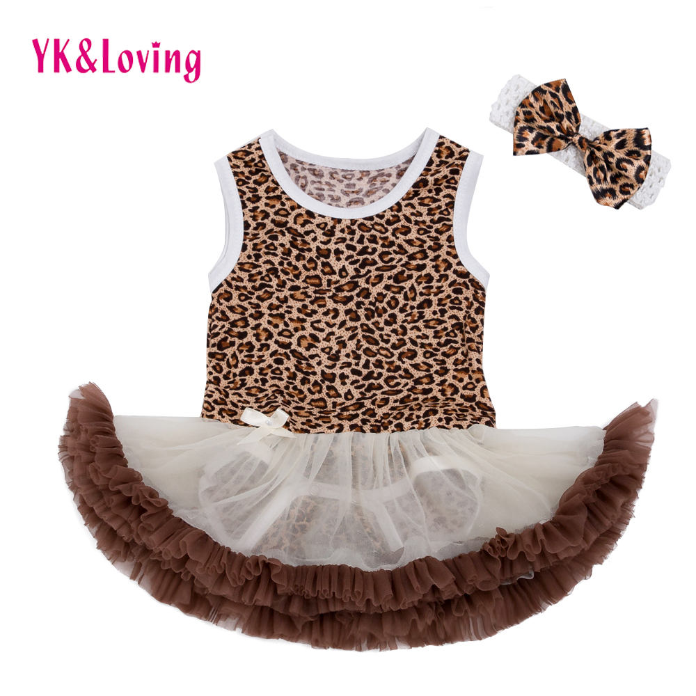 White Voile Girls Baby Dress Leopard Print Top 2017 Summer Hot-selling Cool Baby Tutu Dresses Sleeveless Cute Fashion Clothing