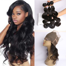DHL/Ups 2-4 Days Delivery 9A Brazilian Body Wave 360 Frontal With Bundles 360 Lace Frontal Closure With Bundles Human Hair