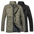 Top qualidade dos homens jaqueta casaco de Inverno com capuz engrossar casacos de veludo casaco acolchoado dos homens à prova d' água à prova de vento outerwear