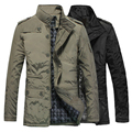 Top quality Men's Winter overcoat jacket hooded thicken velvet jackets men padded coat waterproof windproof outerwear