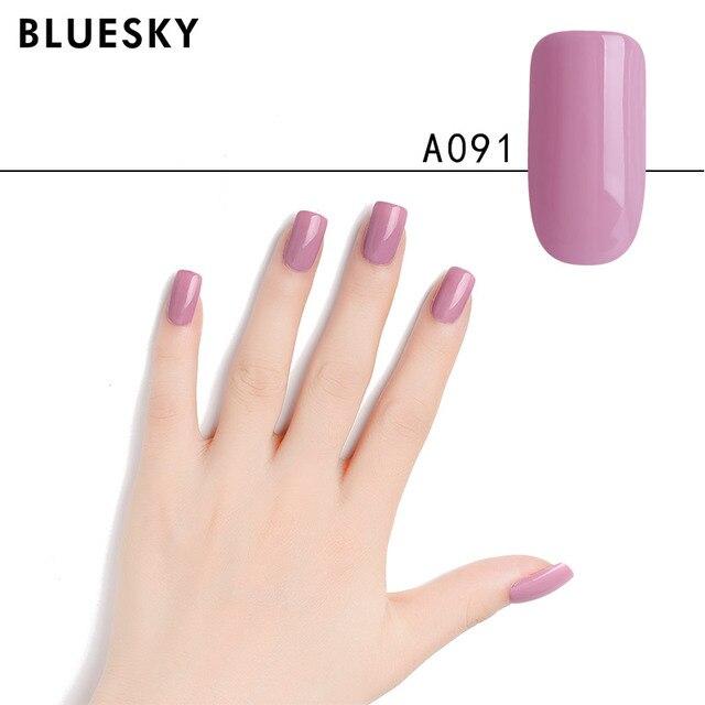 US $9.98 |Bluesky Gel Nail Polish Color 10ml Gel Lacquer Soak off UV Gel  Nail Polish for Nail Art need UV Lamp A088 120-in Nail Gel from Beauty & ...