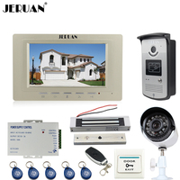 JERUAN Wired 7 Inch LCD Video Intercom Door Phone System Kit Monitor RFID Access IR Camera