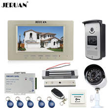 JERUAN Wired 7 inch LCD Video intercom Door Phone System kit Monitor + RFID Access IR Camera + 700TVL Analog Camera In Stock