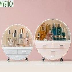 Casa moda gaveta caixa de armazenamento de maquiagem banheiro escova batom titular desktop acrílico jóias cosméticos cuidados com a pele organizador rack